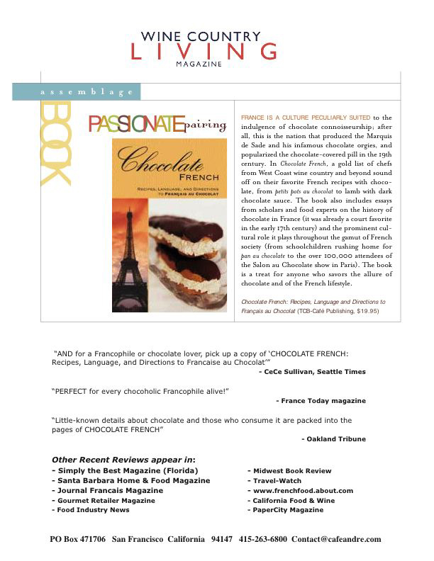 Wine Country Living Magazine U201cCHOCOLATE ...