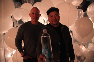 Chef Roy Choi and Harley Pasternak at smartwater sparkling Insider Collective dinner at W Hollywood
