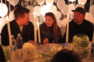 Chefs Roy Choi and Tyler Florence at smartwater sparkling Insider Collective dinner at W Hollywood