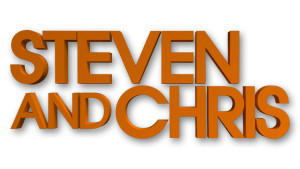 Steven and Chris-logo-whiteandorange