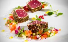 Zicasso-japan_pepper_coated_and_lightly_seared_raw_tuna_chunks_served_with_finely_chopped_vegetable_salad_and_sprinkled_with_sea_salt